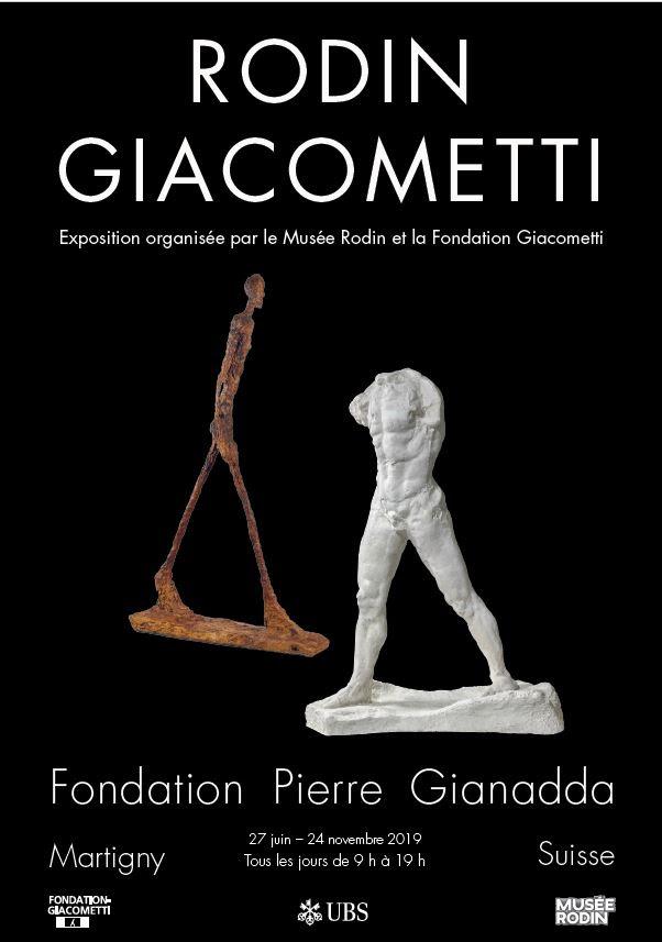 """Résultat de recherche d'images pour """"fondation gianadda Rodin/Giacometti."""""""